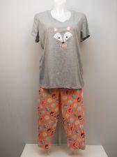 Buy PLUS SIZE 2X Women 2PC PJ Set SECRET TREASURES Foxy Print Short Sleeve Inseam 22