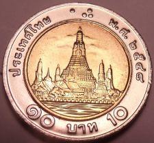 Buy Gem Bu Thailand 2004 10 Baht~Bi-Metal~70th Anniv of Thammasat University~Fr/Ship