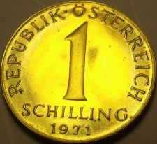 Buy Proof Austria 1971 Schilling~82,000 Minted~Edelweiss Flower~Free Shipping