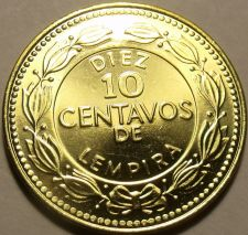 Buy Large Gem Unc Honduras 2007 10 Centavos~Solid Brass Coin~Free Shipping