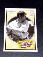 Buy MLB JOE DiMAGGIO YANKEES HOF SUPERSTAR 2010 UPPER DECK BASEBALL HEROS #2 GD-VG