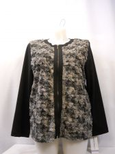 Buy Alfred Dunner Women's Jacket Size 18 Black Faux Rabbit Fur Full Zip Long Sleeves