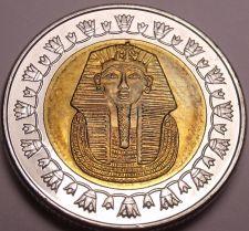 Buy Gem Unc Bi-Metal Egypt 2007 1 Pound~King Tutankhamun~Read The History~Free Ship