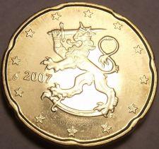 Buy Gem BU Finland 2007 20 Euro Cents~Standing Lion~We Have Gem Bu Coins~Free Ship