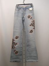 Buy Milano Moda Stonewashed Embellished Boot Cut Legs 28X33 Women's Jeans Size 5/6