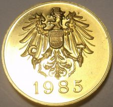 Buy Austria 1985 Proof Set Medallion~Screaming Eagle~Free Shipping