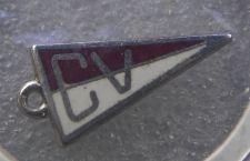 Buy Vintage Charm : Banner Pennant CV : AE Sterling Silver & Enamel