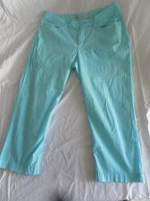 Buy Womens Old Navy Classic Rise Stretch Capris Size 6 Aqua Lightweight