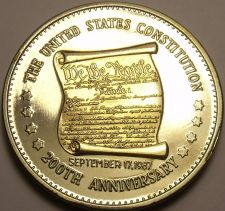 Buy Historic Mint Double Eagle U.S. Constitution Commemorative Medallion~Free Ship