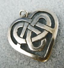Buy Heart Pendant: Sterling 925 Silver Irish Celtic Heart Signed See Photo