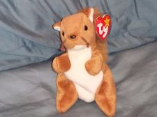Buy RETRO ORIGINAL TY BEANIE BABY PLUSH NUTS SQUERRELL COLLECTIBLE NICE
