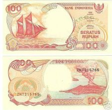 Buy INDONESIA GEM UNC SAILBOAT 100 RUPIAH CRISP NOTE~FR/SHI