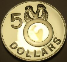 Buy Rare Silver Proof Solomon Islands 1978 $5.00~5,138 Minted~Fossilized Clam~Fr/Shi
