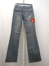 Buy Milano Moda Stonewashed Women's Embellished Boot Cut Legs 26X32 Jeans Size 3/4