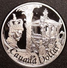 Buy Rare Cameo Silver Proof Canada 2002 Dollar~29,688 Minted~50th Anniv~Free Ship