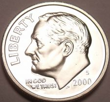Buy 90% SILVER CAMEO PROOF 2000-S ROOSEVELT DIME~FREE SHIP