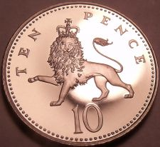 Buy Cameo Proof Great Britain 2002 10 Pence~Crest Of England~Lion~100k Minted~Fr/Shi