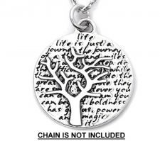 Buy Inspirational Kevin & Anna Charm 950 Silver / TREE = LIFE QUOTE / 16mm