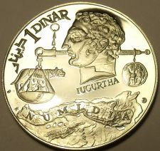Buy Rare Massive Silver Proof Tunisia 1969-F.M.N.I. Dinar~Head Of Jugurtha~Free Ship