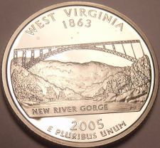 Buy Gem Cameo Proof 2005-S West Virginia State Quarter~See R Proof Quarters~Free Shi