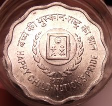 Buy Gem Unc Roll (20 Coins) India 1979 F.A.O. Issue 10 Paise~Scalloped Coins~Free Sh