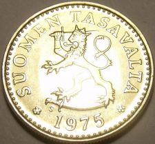 Buy Awesome Gem Uncirculated Finland 1975-S 10 Pennia~Rampant Lion~Free Shipping