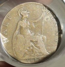Buy FULL ROLL(20) CIRCULATED OLD GREAT BRITAIN HALF PENNYS~1901-1935~FREE SHIPPING~