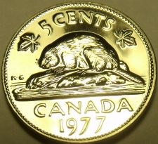 Buy Proof Canada 1977 5 Cents~Beaver Nickel~225,307 Minted~We Have Canadian~Free Shi