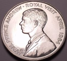 Buy Gem Unc Saint Helena 1984 50 Pence~Royal Visit OF Prince Andrew~Free Shipping