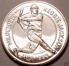 Buy Massive Unc Liberia 1994 Dollar~Hall of Fame - Reggie Jackson~Free Shipping