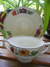 "Buy Antique Tea Cup and Saucer ""CHELSEA IVORY"" by W. H. GRINDLEY & Co."