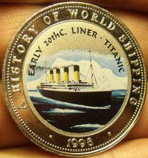 Buy Proof Somalia 1998 25 Shillings~The Titanic~Multicolored~Free Shiping