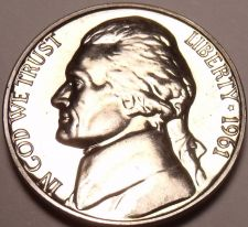 Buy AWESOME PROOF 1961 JEFFERSON NICKEL~SEE ALL OUR JEFFERSONS~FREE SHIPPING~