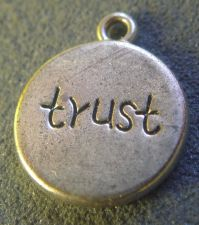 Buy Silver Inspirational TRUST charm