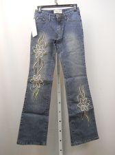 Buy Milano Moda Embellished Stonewashed Women's Boot Cut Legs 28X33 Jeans Size 4