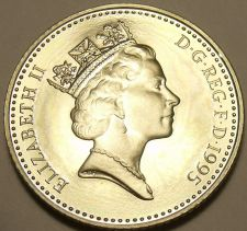Buy Cameo Proof Great Britain 1995 10 New Pence~Only 100,000 Minted~Free Shipping