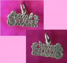 Buy vintage STERLING 925 SPECIAL TEACHER CHARM