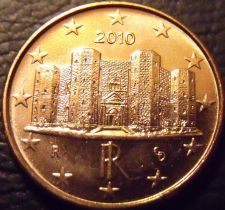 Buy Gem Unc Italy 2010 1 Euro Cent~The Castle DelMonte~Excellent~Free Shipping