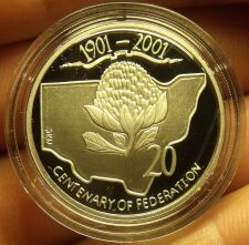 Buy Cameo Proof Australia 2001 20 Cents~Centenary Of Federation~New South Wales~Fr/S