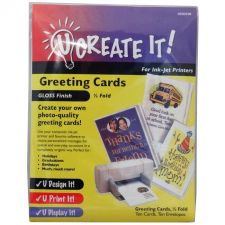 Buy U CREATE IT! Greeting Cards Gloss Finish Half-Fold 10 Pack