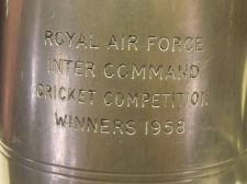 Buy RARE ROYAL AIR FORCE 1958 CRICKET COMPETITION WINNER ENGLISH PEWTER MUG~FREE SHI