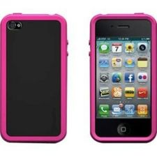 Buy XtremeMac iPhone 4 Pink Tuffwrap Accent Silicone Case