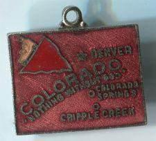 Buy COLORADO : Enamel & Unmarked Silver Travel Souvenir Map Charm