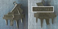 Buy Vintage Music Charm : Sterling Silver Signed FLAT Piano Charm #1 - Unk. Hallmark