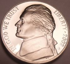 Buy 2002-S CAMEO PROOF JEFFERSON NICKEL~FREE SHIP~AWESOME~