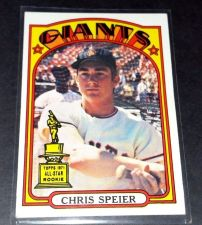 Buy VINTAGE CHRIS SPEIER GIANTS 1972 TOPPS ROOKIE #165 GD-VG