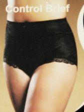 Buy SH018 Delta Burka NEW DB7566 Black Shapewear Flattens Tummy Firm Control Brief L