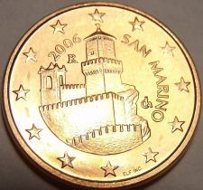 Buy Gem Unc San Marino 2006 5 Euro Cents~Super Castle~Minted In Rome~Free Shipping