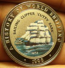 Buy Proof Somalia 1998 25 Shillings~Sailing Clipper Cutty Sark~Multicolored~Free Shi