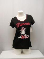 Buy DISNEY Womens Sleepshirt T-shirt SIZE M Minnie Graphic Black Short Sleeves